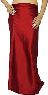 Inskirt Lining for Sari Indian Satin Silk Petticoat Gift for Women