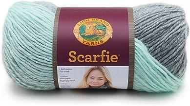 Lion Brand Yarn 826-217 Scarfie Yarn, One Size, Pink/Silver