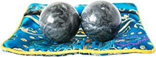 Addune Chinese Baoding Balls Dark Grey Health Exercise Stress Hand Balls Natural Chinese Health Medicine Marble Balls
