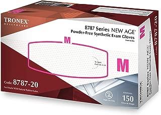 Tronex International Tronex- SyntheticNew Age Powder-Free Examination Gloves, White, X-Large, 150 Count