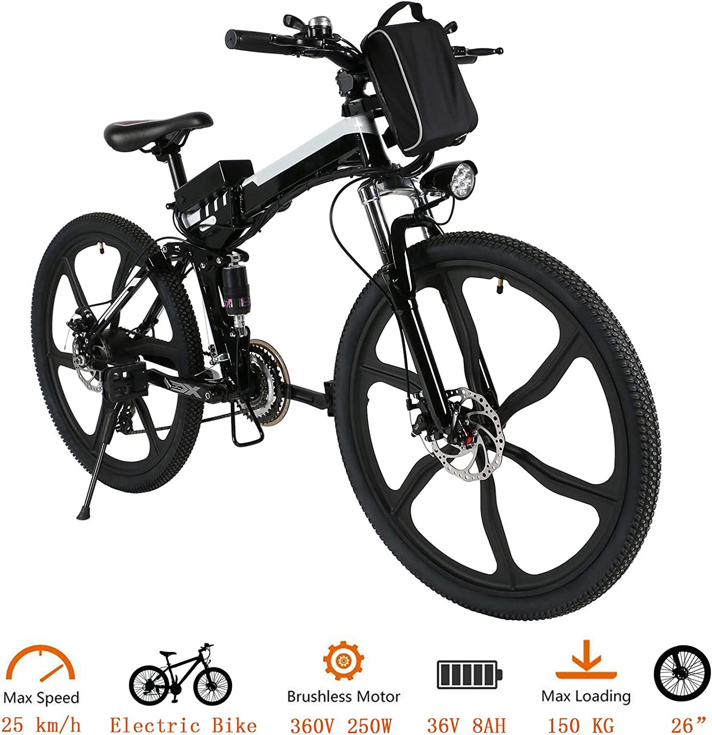 Tomasar Power Electric Bike with inch Lithium-Ion Battery 26 Wh Max 64% Spasm price OFF