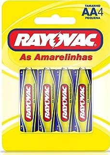 Pilha, Rayovac, Pilha Zinco ou Comum As Amarelinhas 10842, Amarelo, AA, Pequena, pacote de