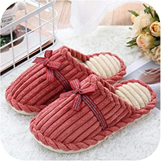Home Slippers for Men Corduroy Short Plush Winter Slippers Men Warm Comfortable Non Slip Male Slippers