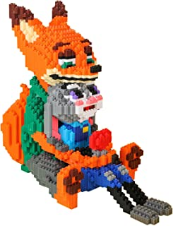 Micro Blocks Model DIY Assemble Action Building Kit Toy Boy Gift Over 14 Years Old Fox Hugging Rabbit peng (Size : 8298PCS)
