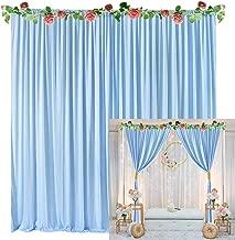 blue backdrop curtain