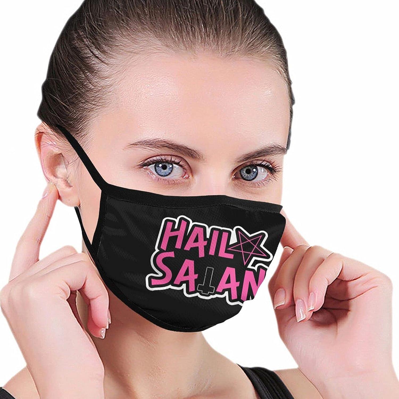Hail Satan Fashion Washable Breathable Reusable for Women Balaclava Face Mask Black