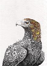 Maxwell & Williams Marini Ferlazzo Birds theedoek wigstaart adelaar bedrukt, 100% katoen, zwart/wit, 50 x 70 cm
