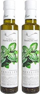 Terre Francescane - Basilikum-Öl - Extra Natives Olivenöl mit Basilikum 2er Pack / 2 x 250 ml