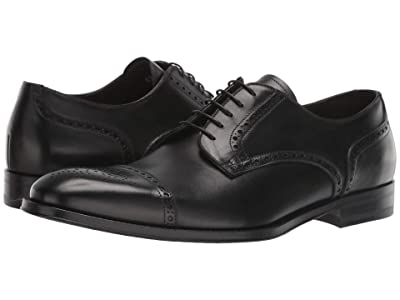 Canali Calf Cap Toe Oxford (Black) Men