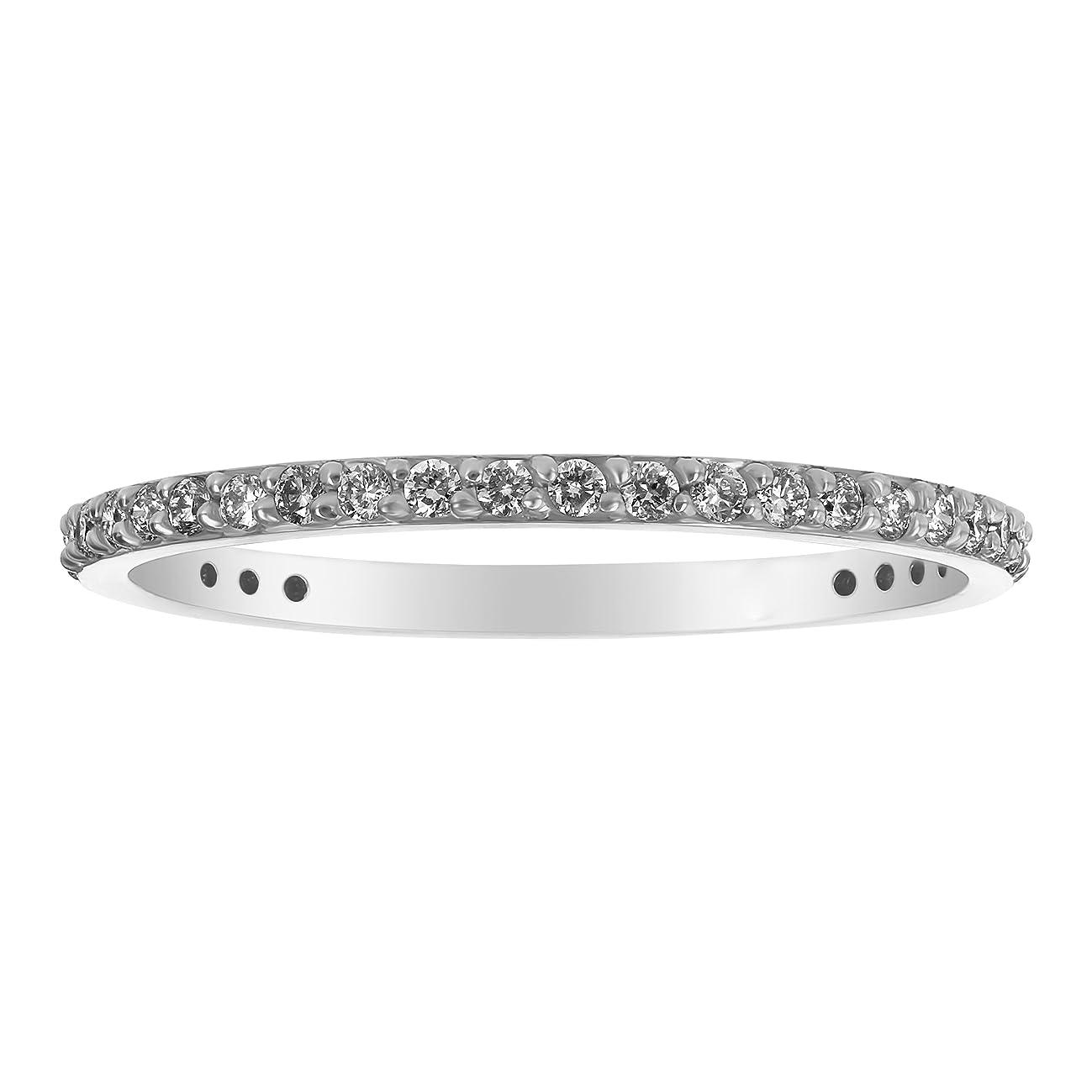 Olivia Paris 14K Gold Diamond Eternity Band Ring for Women (1/3 cttw, H-I, I1)