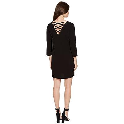 Jack by BB Dakota Luther Heavy Crepe Strappy Back Dress (Black) Women
