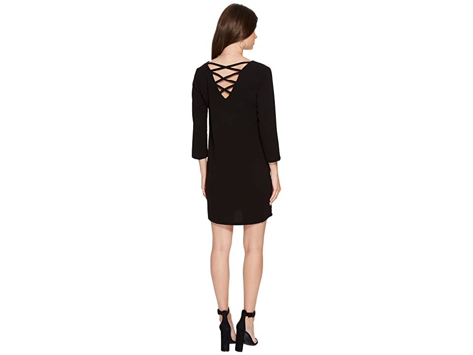 Jack by BB Dakota Luther Heavy Crepe Strappy Back Dress (Black) Women