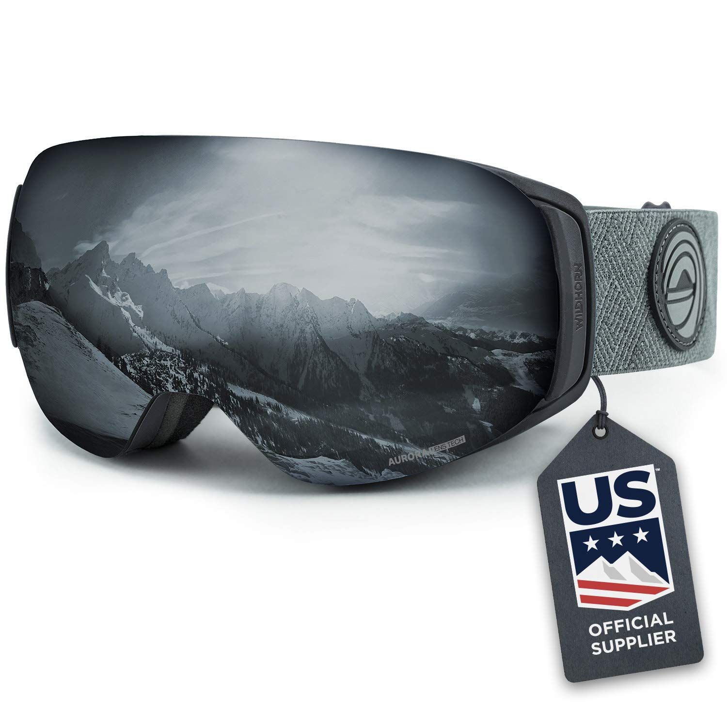 WildHorn Outfitters Snowboard Goggles Integrated