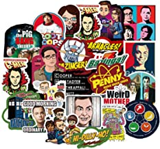 50PCS The Big Bang Theory TV Stickers FUUNY Stickers Laptop Computer Bedroom Wardrobe Car Skateboard Motorcycle Bicycle Mobile Phone Luggage Guitar DIY Decal (TBBT 50)