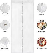 TSYMO mosquitera magnética para puerta mosquitera, mosquitos, insectos, cortina de malla, se adapta a aberturas de puerta de hasta 90 x 210 cm