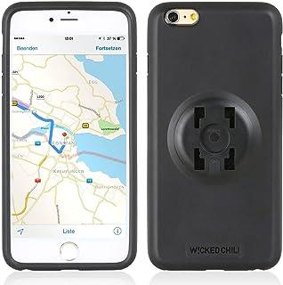 Wicked Chili QuickMOUNT Case Halteschale und Regenhülle kompatibel mit iPhone 6S Plus / 6 Plus geeignet für HR und iGrip 4 Krallen System (nur Handyschale und Poncho ohne Halterung) schwarz