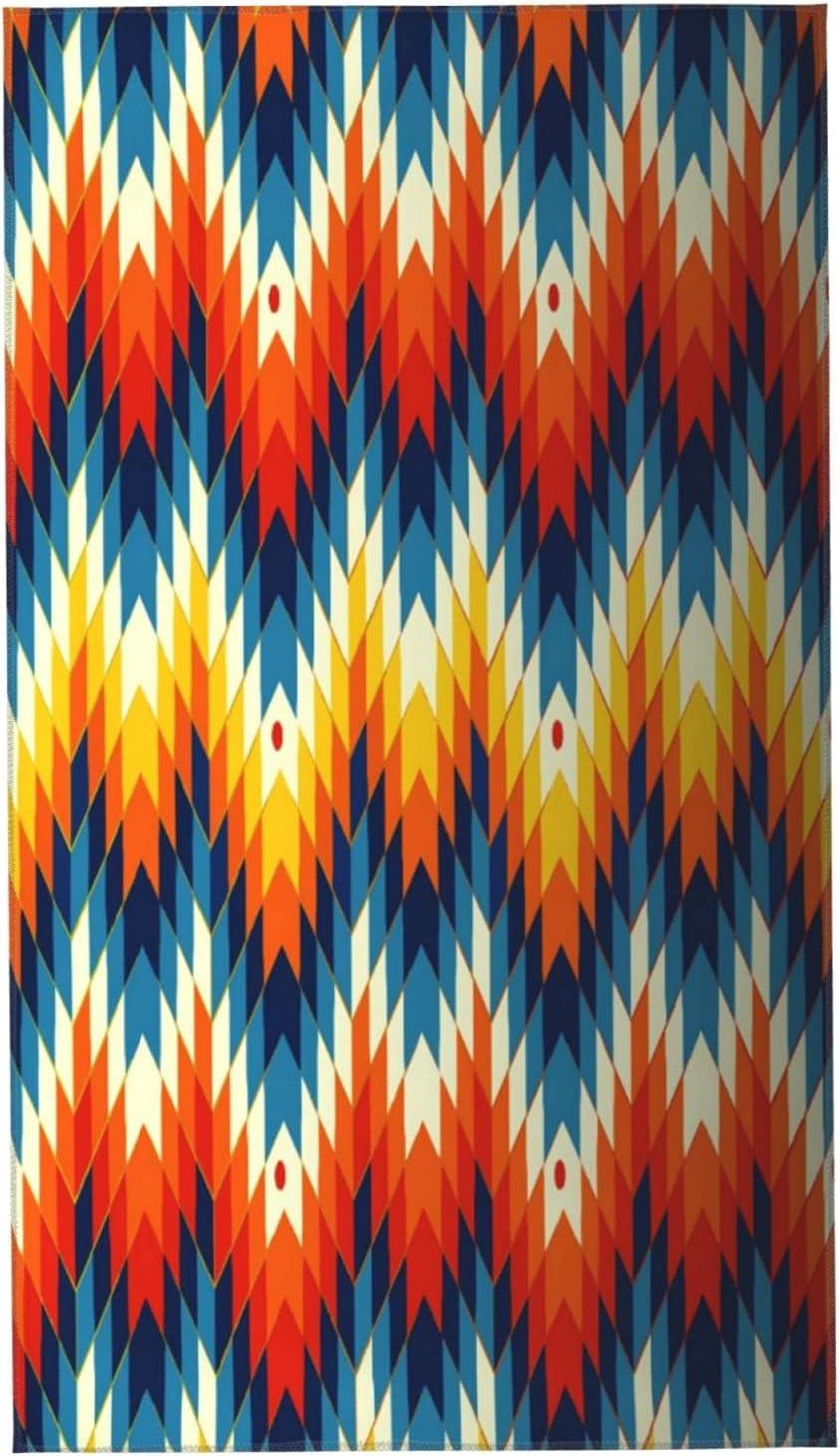 KENADVI Hand Towels Limited time sale Navajo Native Ranking TOP18 Soft Super Pattern American Wa