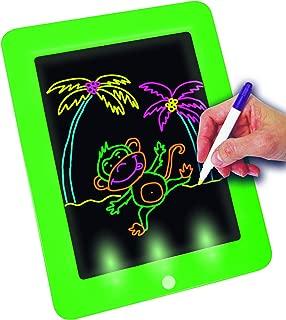 Tableta de Escritura LED Pizarra M/ágico con Luz para Ni/ños Juguete Educativo Infantil Dibujo de Graffiti Luminoso Creativa Pizarra con 10 Tarjeta de Graffiti Tablero de Dibujo M/ágico con Luces