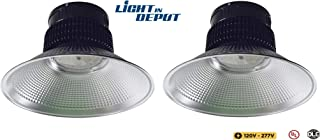 Commercial 100w UFO LED High Bay Light 5000K Bay Lighting Fixture Aluminum Body Daylight LED Warehouse Lights, Corrosion & Static Resistance Indoor Used (100w, 2 Pack)