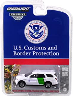 Greenlight 1/64 US Customs & Border Protection Border Patrol 2018 Dodge Durango Police SUV