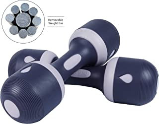 Nice C Adjustable Dumbbell Weight Pair, 5-in-1 Weight Options, Non-Slip Neoprene Hand, All-Purpose, Home, Gym, Office