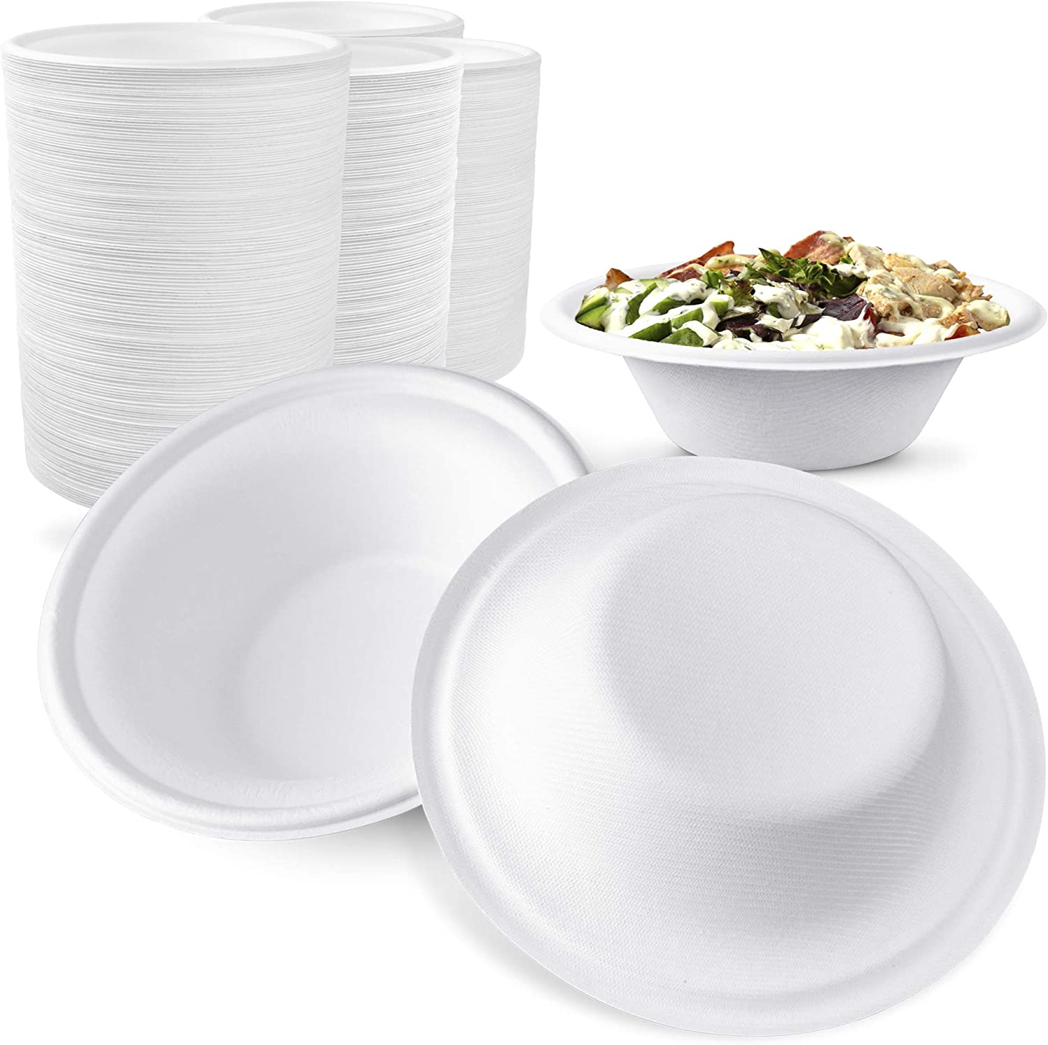 Max 59% OFF 2021 1000 Pack 12 oz White Biodegrad Compostable Disposable - Bowls
