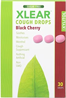 Spry Throat Drops with Xylitol, Black Cherry, 30 Count