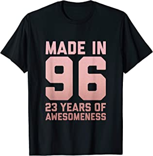 23rd Birthday Shirt Women 23 Year Old Niece Daughter Gifts