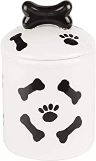 Creature Comforts Ceramic Treat Jars Collection – Extensive Selection of Beautiful, Stylish Food Storage Container for Dogs, Cats and Pets – Option to Customize and Personalize