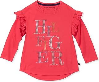Girls' Long Sleeve Graphic Ruffle Tee Shirt