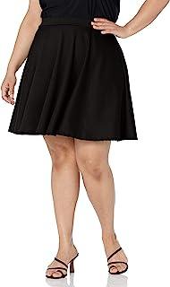 Star Vixen Women's Plus-Size Short Skater Skirt