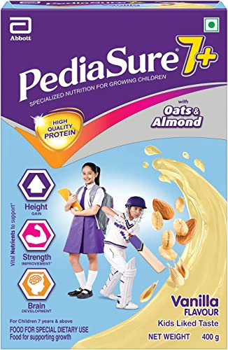 Pediasure 7 Specialized Nutrition Drink Powder for Growing Children Vanilla Flavour 400 gm