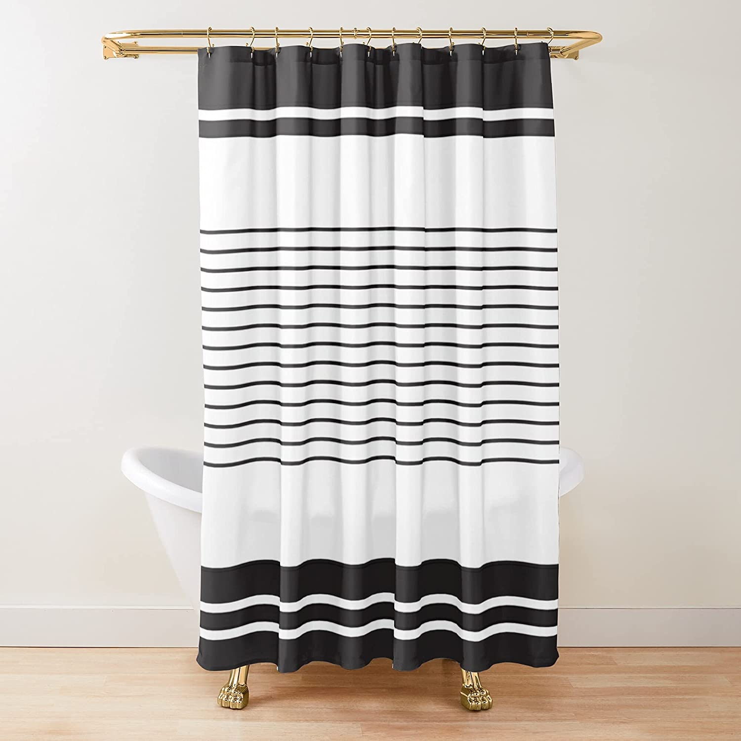 Black El Paso Mall and White Max 43% OFF Quilt Pattern Fabric Printed Shower Cu Curtains