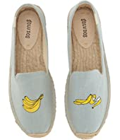 Soludos - Banana Embroidered Platform Smoking Slipper