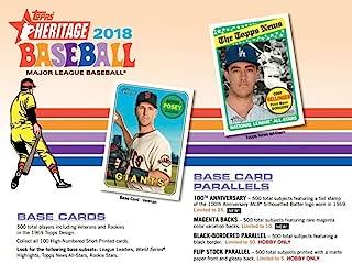 2018 Topps Heritage Baseball Blaster Box (8 Packs/Box, 9 Cards/Pack: 1969 Design -Look for New Rooki