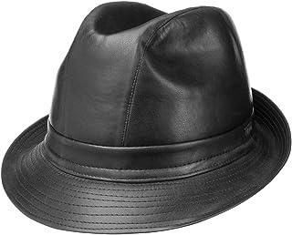 Lipodo Cappello in Pelle Imitata Trilby Tendenza da Uomo