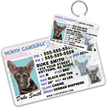 North Carolina Driver License Custom Dog Tag for Pets and Wallet Card - Personalized Pet ID Tags - Dog Tags For Dogs - Dog ID Tag - Personalized Dog ID Tags - Cat ID Tags - Pet ID Tags For Cats