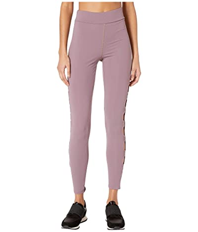 Cushnie High-Waisted Leggings with Half Circle Cut Outs (Amethyst/Black) Women