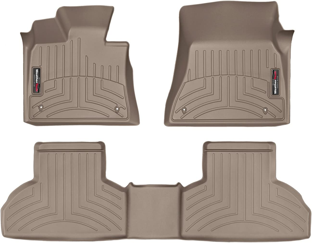 WeatherTech Custom Large discharge sale Fit FloorLiner Limited price - 45559-1-2-1st 2nd Tan Row