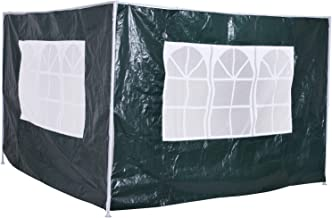 Outsunny 3m Canopy Gazebo Marquee Replacement Exchangeable Side Panel Wall Panels Walls (Green)