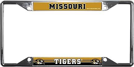 "Rico Industries NCAA unisex Standard Chrome License Plate Frame 6 x 12.25-"" Team Color"