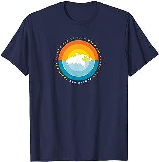 St John USVI Cruz Bay Caneel Bay Sunset Graphic T Shirt