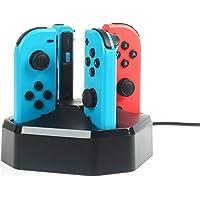 Amazon Basics Charging Station Dock for 4 Nintendo Switch Joy-con Controllers