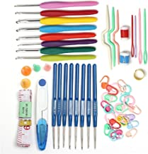 Mega Shop Sewing Crochet Hooks Tools Sewing Kit 53 Pcs / Set With Scissors Row Counters Yarn Hook Weave Needles Multi Coloured Knitting Stitches