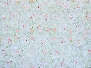 "Prophotoconnect 48""X 96"" Artificial Silk Rose 3D Flower Wall Background Wedding Party Decor Loveheart"