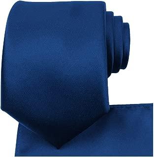 Solid Tie Set Satin Wedding Ties + Pocket Square + Gift Box