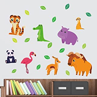 Fabric Wall Stickers - Cute Zoo Animals, Tiger, Crocodile, Cute Panda for Kids - Gifts for Boys & Girls - Fulfill Attracti...