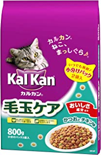 カルカン ドライ 成猫用 毛玉ケア かつおとチキン味 800g [キャットフード]