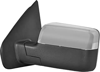 Driver Side Power Operated & Heated Mirror With Signal on Housing With Chrome Finish Cover - Fits 07-08 Ford F-150 - Manual Folding - Part Link #: FO1320334