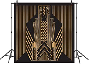 Great Gatsby Photography Backdrop Great for Wedding Party Decoration Photo Background Prop Studio Golden Deco Style Backdrops 6x6ft